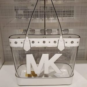 Michael Kors clear tote